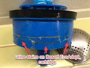Desert Eco Adapt cartridge are non-conforming products in all waterless urinals at Queensland tennis centre