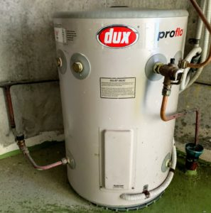 dux 50 litre electric hot water service