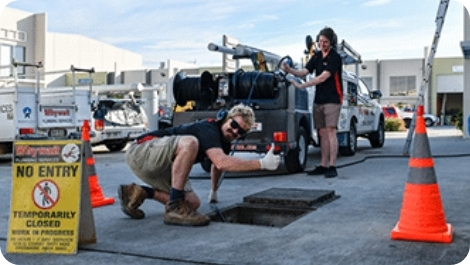 The Whywait team doing drain cleaning on the Gold Coast