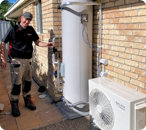 Whywait plumber doing hot water system repairs on the Gold Coast