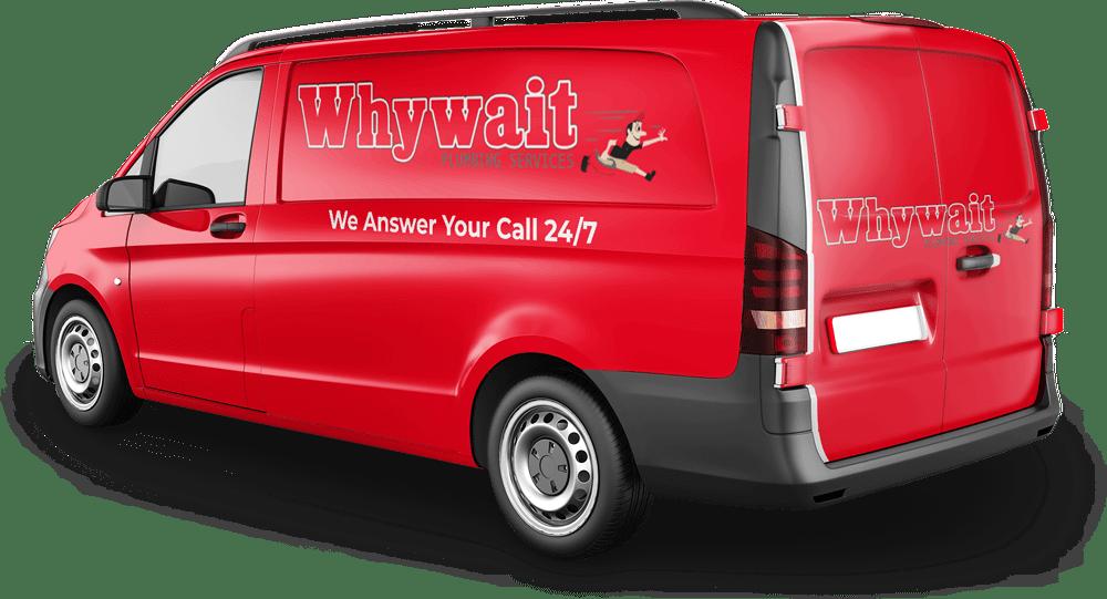 The Whywait Plumbing Van on the Gold Coast